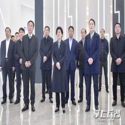 吴桂英在天心区调研经济社会发展情况